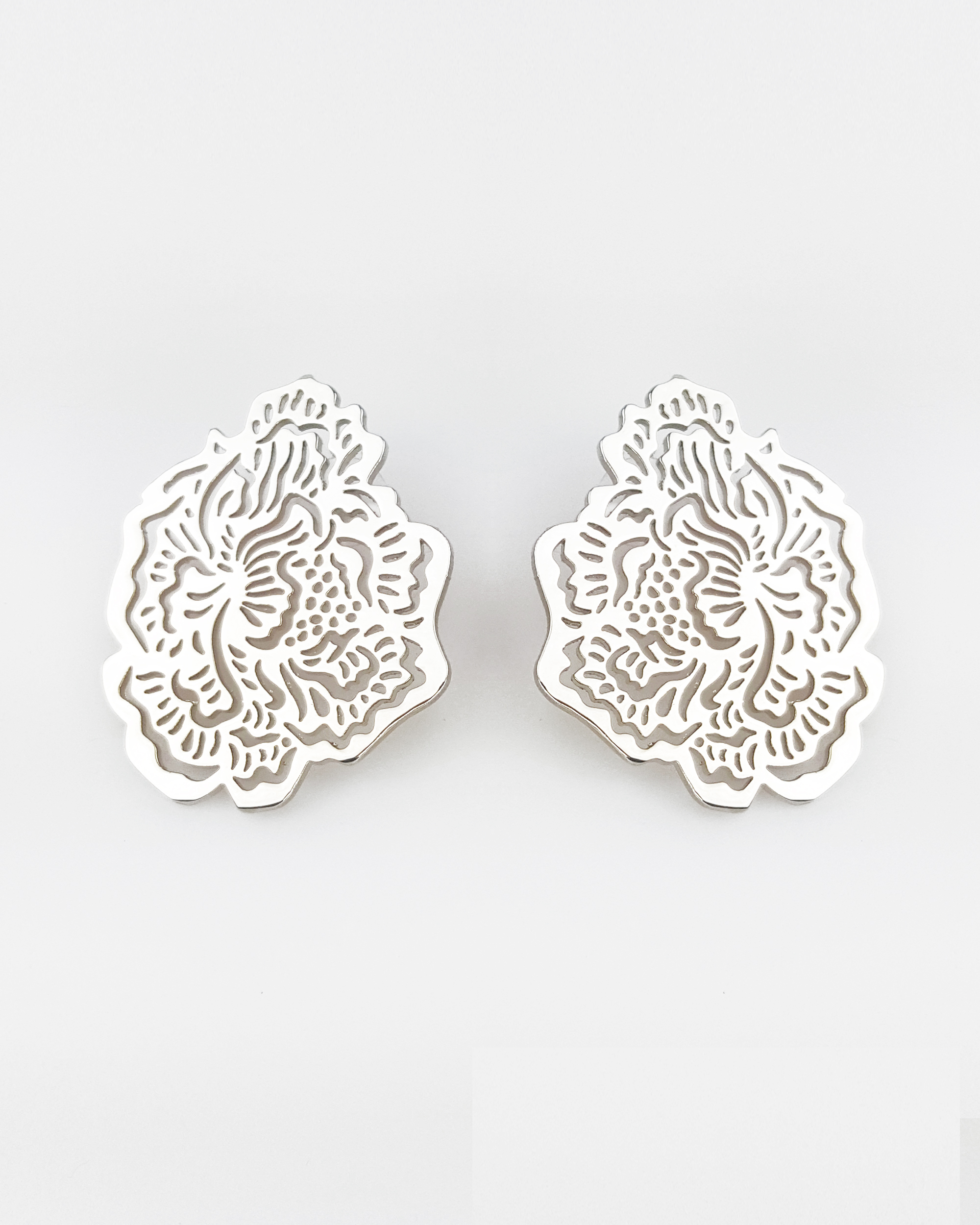 earrings small plated work products tone detailing inspired marrakesh satin delicate with gold v in cut finish dual round