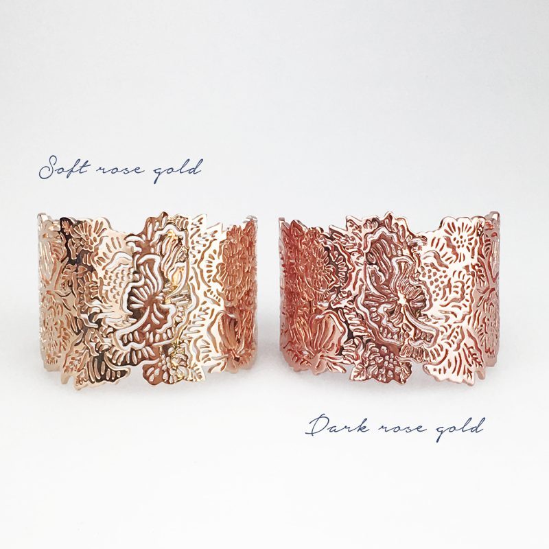 LLDB16 both rose gold long